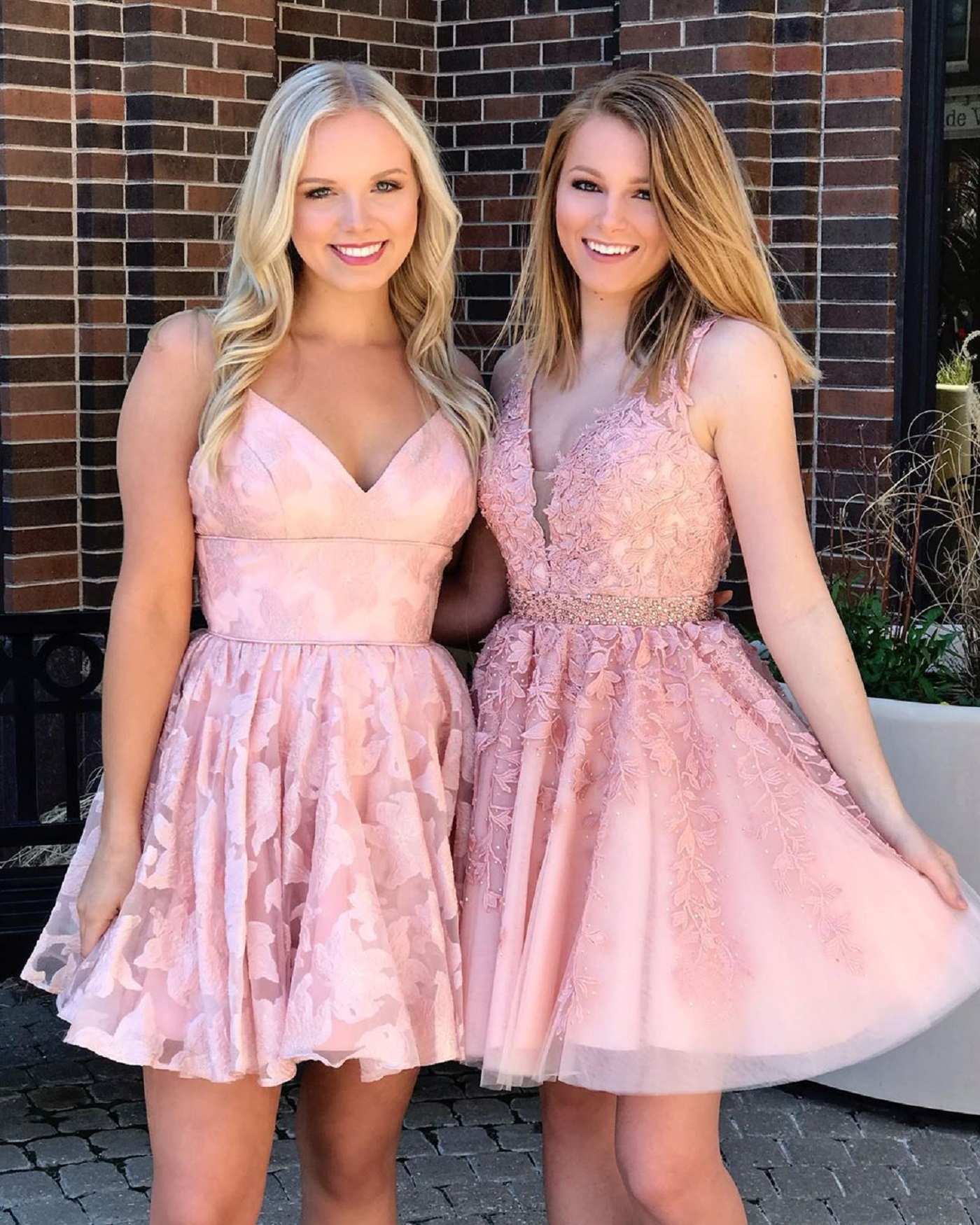 Lace A-Line Dress in Cotton Candy Pink